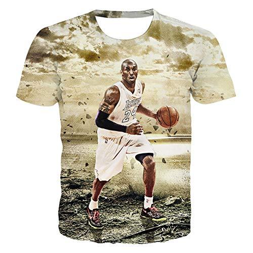 Herren Trikot Lakers Kobe 1996-2016 Retired Gedenk T-Shirt Kobe 24 Basketball Kurzarm Trikots (Size : S-6XL),G,S