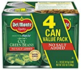 Del Monte Cut Blue Lake Green Beans With No Added Salt 4-14.5 Oz. Can, 14.5 Oz