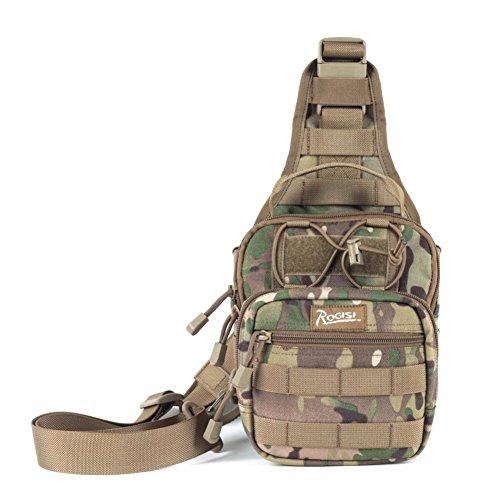 Sincere® Hambourg poitrine / sac Messenger sac extérieur / sac de sport / ventilateurs militaires de camping poitrine pack-camouflage 1 15L