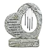 jinhuoba Dog Memorial Stone, Hand-Printed Heart-Shaped Personalized Loss of Pet Gifts (Wind Chime Memorial Stone)