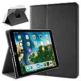 doupi Deluxe Schutzhülle für iPad Air (1. Gen.), Smart Hülle Sleep/Wake Funktion 360 Grad drehbar Schutz Hülle Ständer Cover Tasche, schwarz