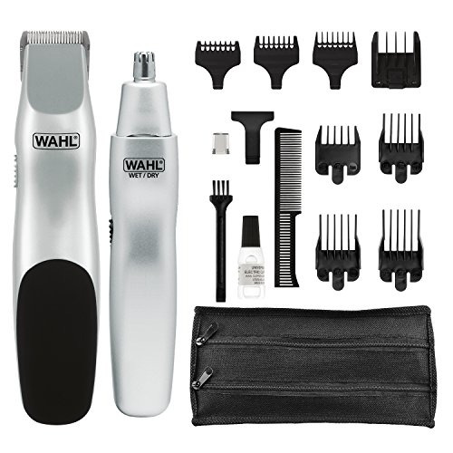 Wahl Groomsman Battery Powered Beard, Mustache, Hair & Nose Hair Trimmer for Detailing & Grooming - Model 5621