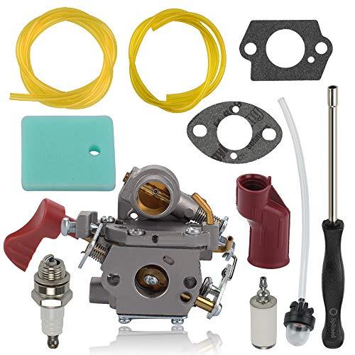 Alibrelo C1M-W44 Carburetor for Pro PP133 PP333 PP338PT PP033 Craftsman 358791170 358791140 358791140 358795920 33CC Gas Trimmer Repalce 545189502 545008042 with 545195901 Air Filter 545190501 Boot