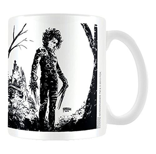 Edward Scissorhands MG23296 (Black Ink) Coffee Mug, Multicolore, 11oz/315ml
