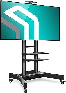 حامل تلفزيون متنقل من اونكرون مزودة بعجلات ورفين ايه في، يناسب شاشة 40 - 70 بوصة - لشاشة OLED-LED-LCD وشاشة بلازما حتى 45 ...