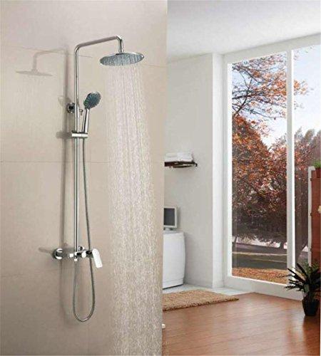 robinet de douche avec pommeau de douche hanpure Modern Baignoire Robinet Cascade douche de pluie chrom/é