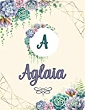 Aglaia: Perfect Personalized Sketchbook with name for Aglaia with Monogram Initial Capital Letter A Sketchbook and Handmade Floral Design Book (8.5x11) | Personalized Birthday Gift for Aglaia