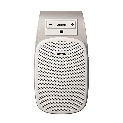 Jabra Drive Bluetooth-Freisprecheinrichtung für Fahrzeuge – Geräuschunterdrückendes Freisprechmikrofon und Lautsprecher für Anrufe, Musik-Streaming und GPS – Weiß