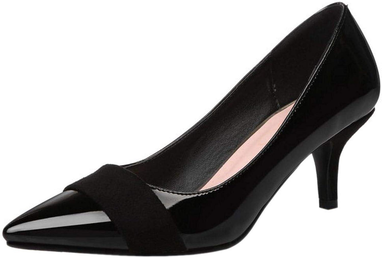 FANIMILA Women Fashion Mid Heel Pumps