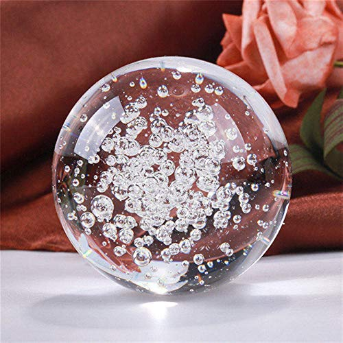 Divination Sphere Crystal Ball Fortune Telling Bal 60/80MM Transparent Bubbles Crystal Ball Feng Shui Magic Glass Ball Good Luck Globe Miniature Home Decoration Office Ornaments for Decorative Ball