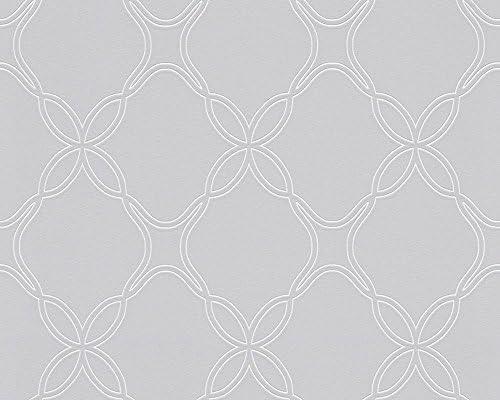 Schoner Wohnen 303851 Vliestapete Geometrische Tapete Grau Metallic 10 05 M X 0 53 M Amazon De Baumarkt