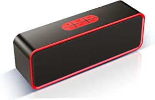 $151 » HXHLZY Desktop Wireless Bluetooth Speaker Small Stereo Subwoofer 3D Surround Outdoor Portable Home (Color : Red)