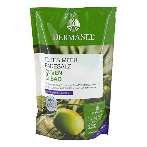DERMASEL Totes Meer Badesalz+Olive SPA 1 P Kombipackung