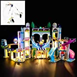 YLJJ Juego de Luces LED USB DIY Compatible con Lego Friends Heartlake City Resort Hotel Building Set 41347, Kit de Luces LED para Bloques de construcción Modelo niños