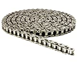 415H Nickel Plated Motorized Chain 98 Links (49 in) for 49cc 60cc 66cc 80cc Motor Bike with 1 Connecting Link