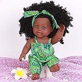 TianranRT Schwarz Mädchen Puppen Afrikaner Amerikaner Spielen Puppen Lebensecht 12 Zoll Baby...