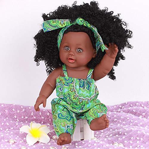 TianranRT Schwarz Mädchen Puppen Afrikaner Amerikaner Spielen Puppen Lebensecht 12 Zoll Baby Spielen Puppen