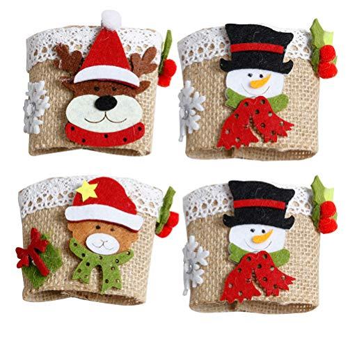 UPKOCH 4 x Weinglas-Abdeckung für Champagnerflöten, Tisch-Zubehör, Weihnachtszubehör für Zuhause, Party (zufälliger Stil)