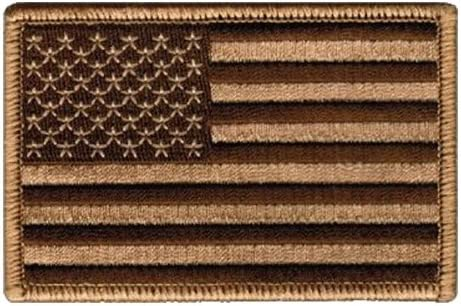 Las Vegas Mall Tactical USA Flag Patch - Desert backing Tan Loop SEAL limited product 2