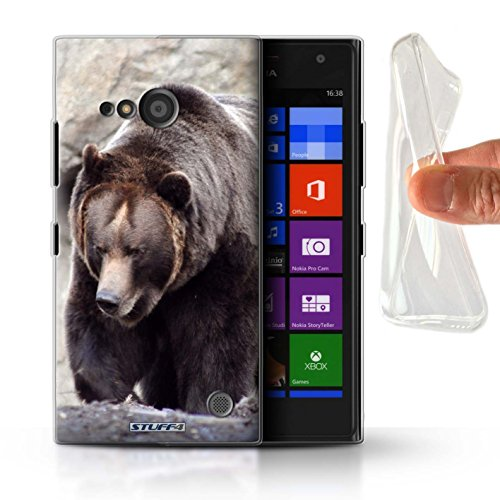Hülle Für Nokia Lumia 735 Wilde Tiere Bär Design Transparent Dünn Flexibel Silikon Gel/TPU Schutz Handyhülle Hülle