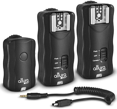 (2 Trigger Pack) Altura Photo Wireless Flash Trigger for Nikon w/Remote Shutter Release (Nikon DF D3100 D3200 D3300 D5100 D5200 D5300 D7100 D7500 D610 D750 D500 D5 DSLR Cameras)
