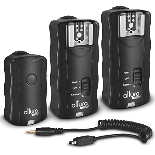 (2 Trigger Pack) Altura Photo Wireless Flash Trigger for Nikon w/Remote Shutter Release (Nikon DF D3100 D3200 D3300 D5100 D5200 D5300 D7100 D7500 D610 D750 D500 D5 DSLR Cameras)