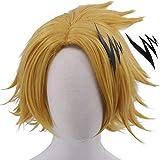 Cfalaicos My Hero Academia Cosplay Wig (Kaminari Denki with Hairpin)