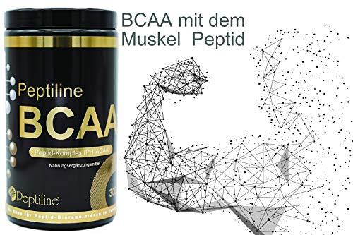 BCAA Pulver 300g mit Peptid-Komplex IPH-AGAA® (Muskel-Peptid) – made in Germany. Ab 2 Dosen BCAA, eine Trinkflasche Gratis dazu