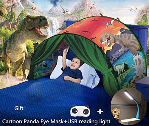 Nifogo Tent-Pop Up Tents Bed Tents,Game Tents Indoor,Magical Bed Tents for Kids,Children's Tents,Children's Playrooms,Unicorn Tents,Boys and Girls Christmas Birthday Gifts (green)