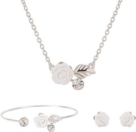 dise/ño de Mandala Moda Elegante Accesorios de Joyas Regalo Ideal Doitsa Collar Pendientes Pulsera Conjunto de Joyas