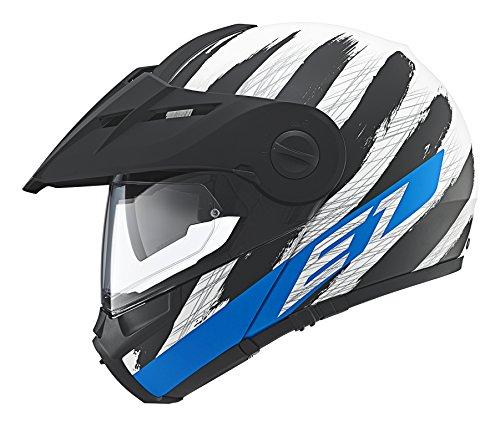Schuberth E1 Hunter Schwarz Weiß Blau, Größe L