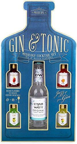 Modern Gourmet Foods - Gin & Tonic Cocktail-Mix Set - Geschenk-Set Mit Tonic Water & 4 Aromen Zum Mischen Mit Gin