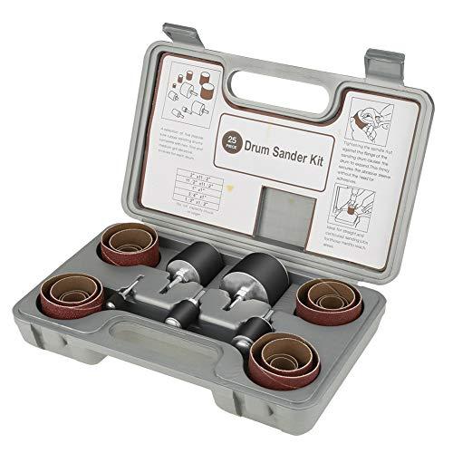 Trommelschleifer - 25pcs Spindelschleifen Drum Sander Tool Kit Set mit Etui für Bohrmaschine