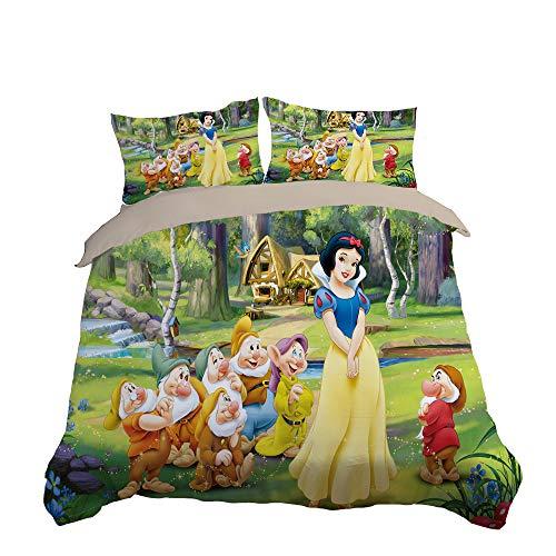 NICHIYO Disney Disney Disney - Juego de ropa de cama infantil con impresión digital 3D y fundas de almohada (10,Double200 x 200 cm)