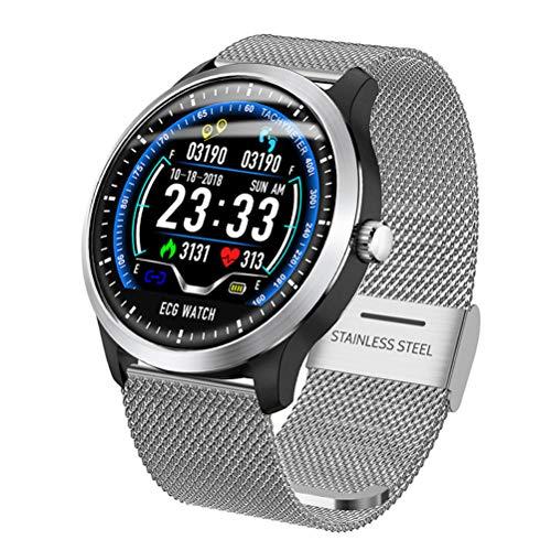 WMWX Intelligente Bluetooth-Multifunktionsuhr, intelligente Armband-Blutdruck-Herzfrequenz-EKG-Anzeige, IP67-wasserdichte Uhr,A