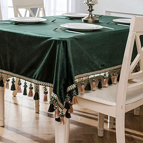 ZHITONG Manteles de Mesa Rectangular - Mantel Impermeable de Poliéster, Antimanchas/Lavable para Cocina Cena Picnic, Decoración de MesaE-140x140cm
