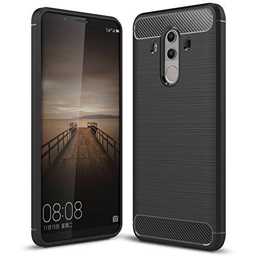 NALIA Handyhülle kompatibel mit Huawei Mate 10 Pro, Ultra-Slim Silikon Case Cover, Dünne Crystal Schutzhülle Silikonhülle Etui Handy-Tasche Backcover Hülle Bumper TPU Smartphone Gummihülle - Schwarz