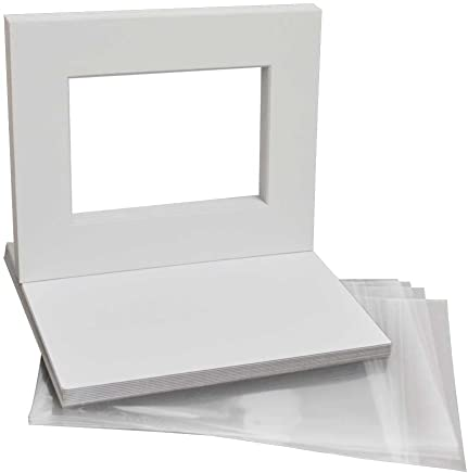 8x10 Inch White Backing Boards Golden State Art Pack of 50