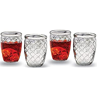 Circleware Garden Gate Huge Set of 10 Drinking Glasses, 17 Ounce