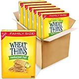 Six 14.5 oz family size boxes of Wheat Thins Reduced Fat Whole Grain Wheat Crackers Classic nutty flavor made with 100% whole grain wheat Thin square whole grain snack crackers offer versatile snacking options Baked to create perfectly crunchy whole ...
