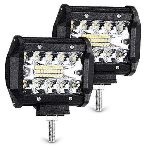 Barra de luz LED, 2 unidades de 70 W, LED, luz antiniebla de conducción, 7200 lúmenes, foco IP68, barra de luz LED de trabajo impermeable para camión todoterreno, automóvil, todoterreno, todoterreno,