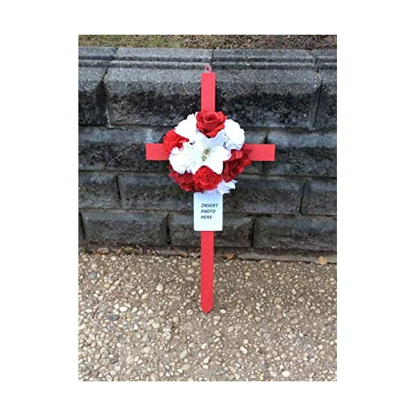 Cemetery Flowers, Cemetery Cross, Photo Memorial, Roadside Memorial