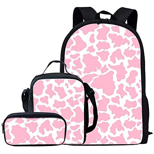 NETILGEN Juego de mochila para niños con caja de almuerzo, 3 piezas, mochila casual para niños, niñas y niños