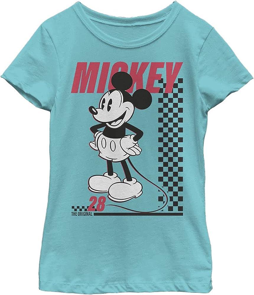 Disney Characters Skate Twentyeight Girl's Solid Crew Tee
