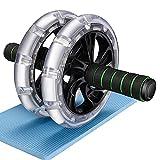 WeyTy Bauchtrainer AB Roller, Bauchroller AB Wheel Abdominal Roller Sehr Leise Fitnessgerät und Bauchmuskeltrainer für Starke Schultern/Arme/Rücken/Bauchmuskeln, für Frauen und Männer,Standhält 200kg