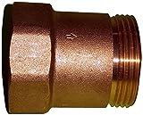 Metabo Rückschlagventil 1'AG x 1'IG (Material: Messing, für Gartenpumpen, Hauswasserwerke, Hauswasserautomaten) 628803000