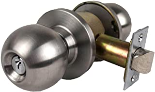 TACO DL-HVB53-US32D DL-HVB Series Trans Atlantic Heavy Duty Grade 1 Cylindrical Entry Function Knob in Satin Stainless Steel,