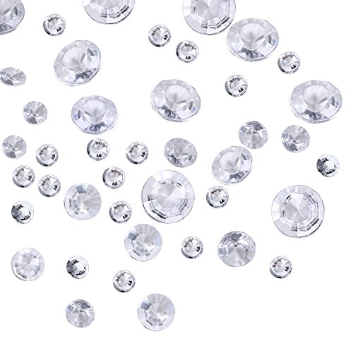 3800 Stücke Klare Wedding Table Streuung Kristalle Deko Diamanten, 4 Größen Künstliche Acryl Diamanten, Tisch Dekoration für Geburtstag Baby Dusche Party