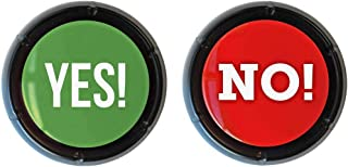 Bloodyrippa Talking Yes & No Buzzer Buttons, Each Button Has 10 Different Sounds, Perfect for Party, Game Night, Events