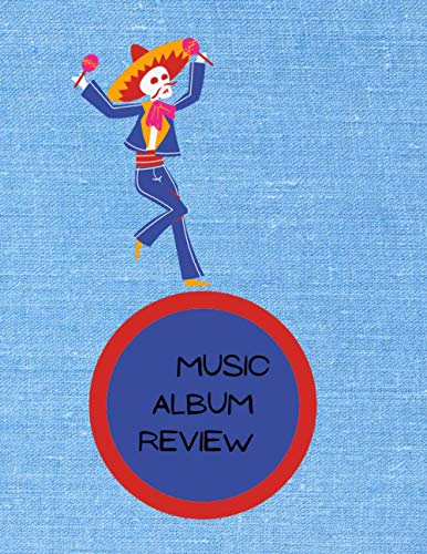 notebook for rating music albums and review rates songs on for music lovers: 8,5x11 inch 21,x27,94 cm review music pattern designs in matte cover